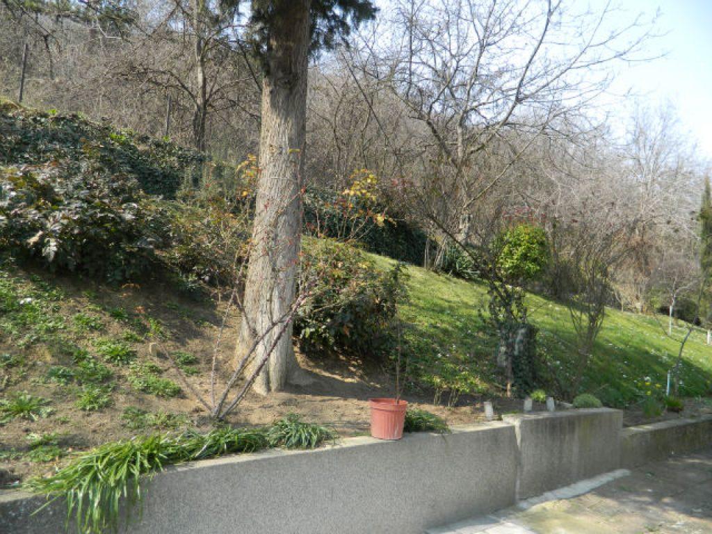 Од оградата на оваа куќа треба да почне изградбата на пат, кој би се движел преку целиот рид на Водно   Фото: БИРН