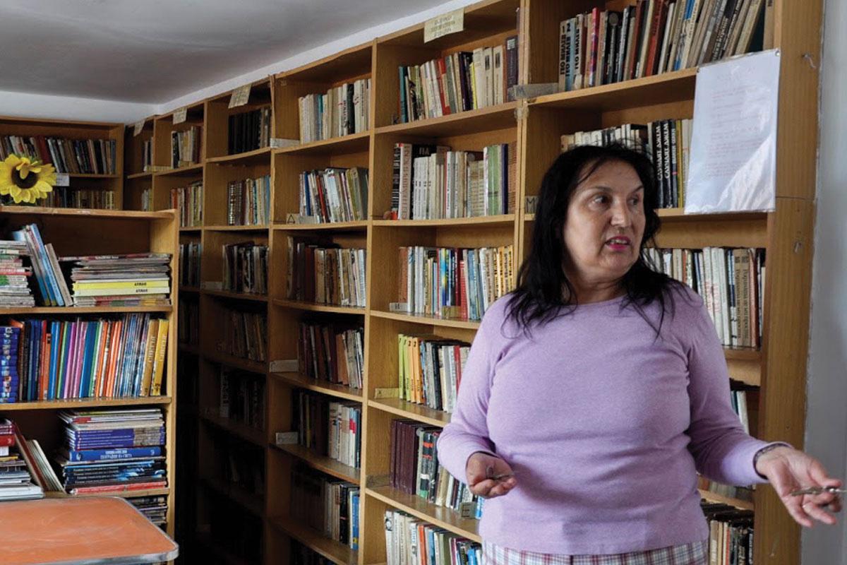 Зоја Симеонова во центарот на заедницата на Исток со кој управува на 10 јуни 2015. Фото: Зорница Стоилова