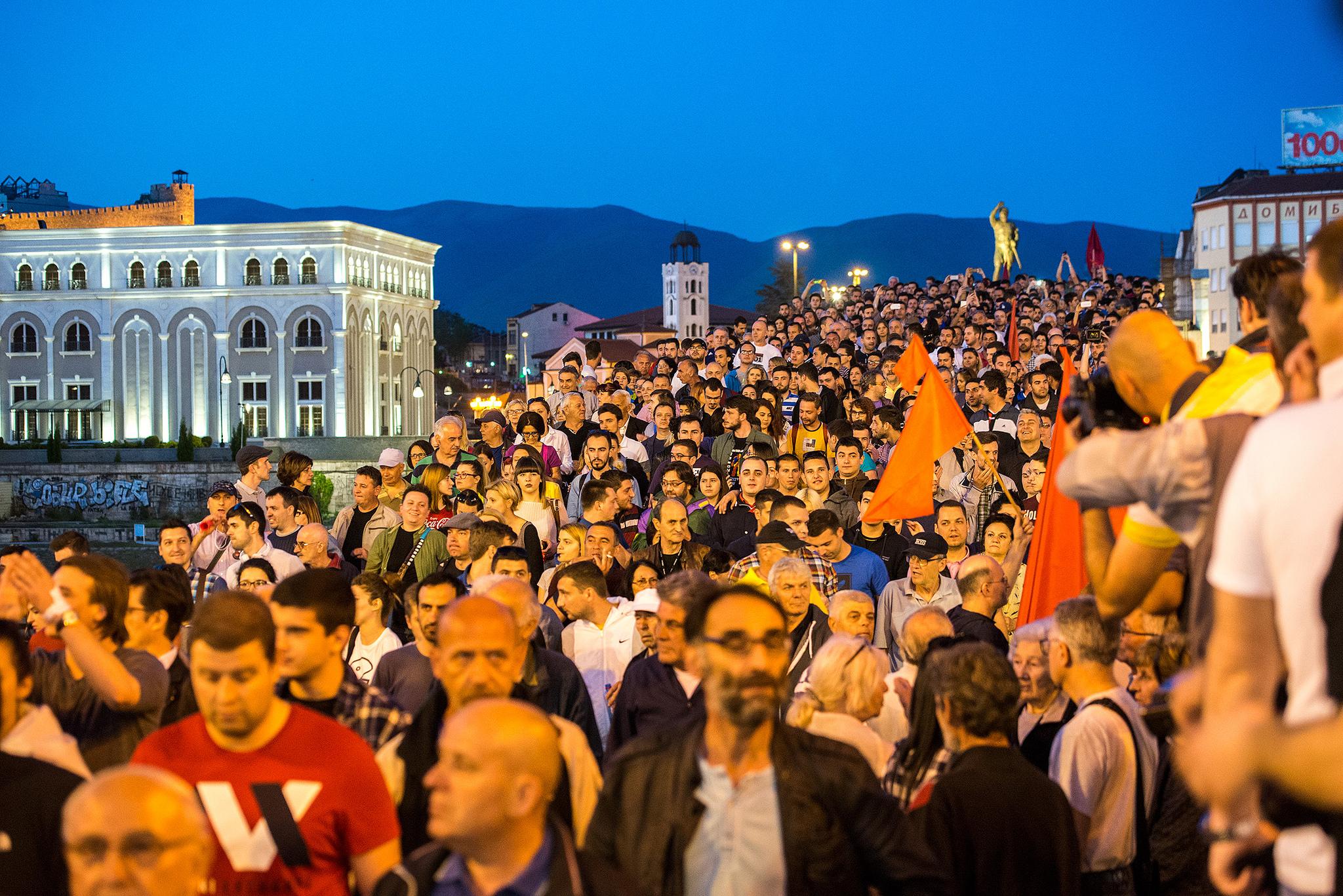 По Скопје излегуваат и граѓаните низ цела Македонија | Фото: Роберт Атанасовски