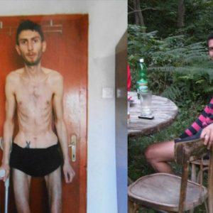 Даниел Здравков сега, речиси парализиран како последица од три автоимуни болести и пред три години кога бил сосема здраво момче / Фото: Фејсбук профил на Здравков