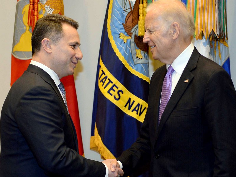 Никола Груевски и Џо Бајден во Вашингтон / Фото: МИА