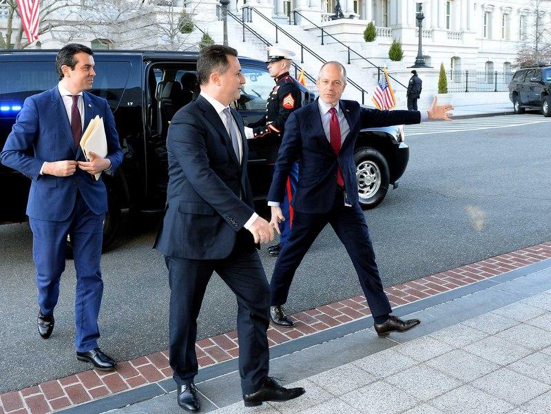 Груевски и Поповски за време на посетата на Вашингтон / Фото: МИА