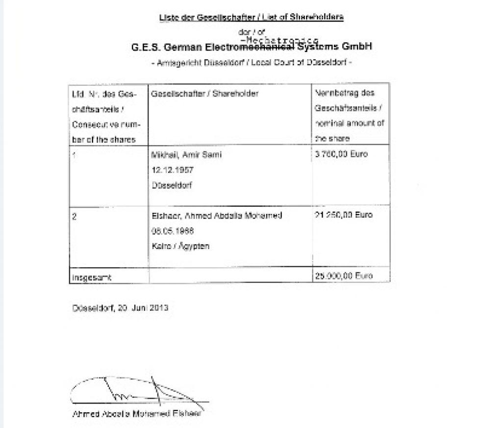 Информацијата за основањето на компанијата судејќи според веб-страницата на GES