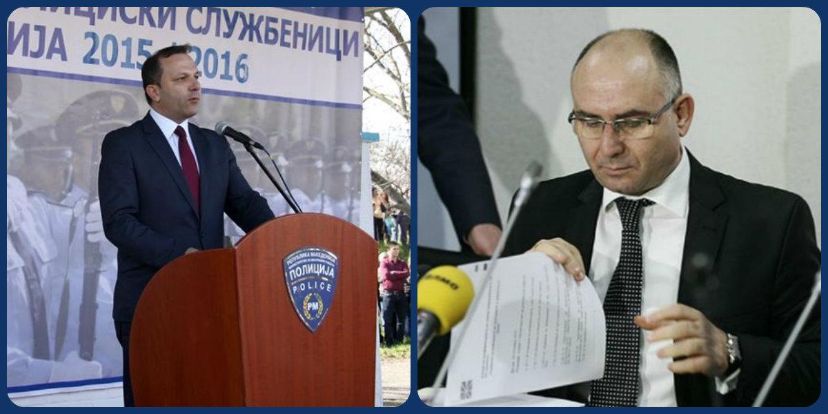 Двојно водство во МВР: Оливер Спасовски и Митко Чавков