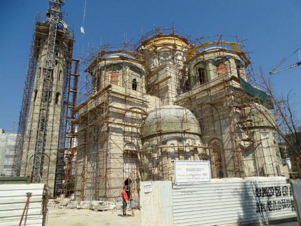 Црквата Св. Константин и Елена во завршна фаза на градење / Фото: Владо Апостолов
