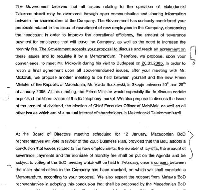 Факсимил на писмото со кое се најавува средба Бучковски Страуб
