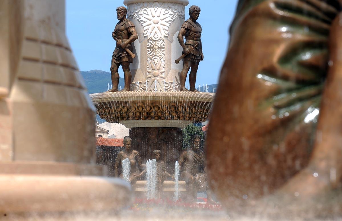 Спомениците на плоштадот Филип II се само дел од авторството на Валентина Стевановска, која остави најголем белег врз проектот Скопје 2014 | Фото: Роберт Атанасовски