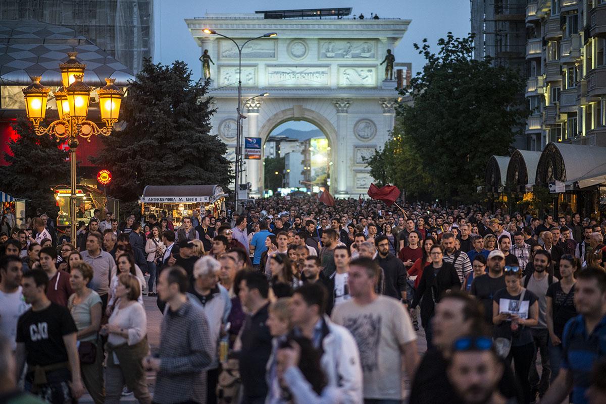 """""""Скопје 2014"""" изминатава година од заеднички именител на менувањето на градот стана и симбол на револтот / Фото: Ванчо Џамбаски"""