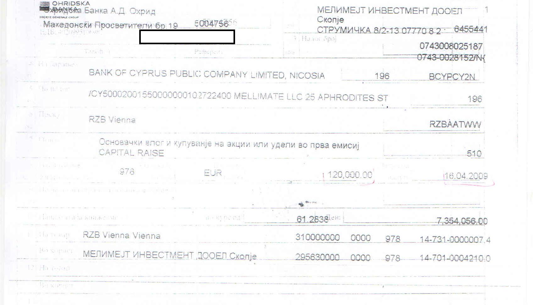 Оснивачки влог со пари од Кипар