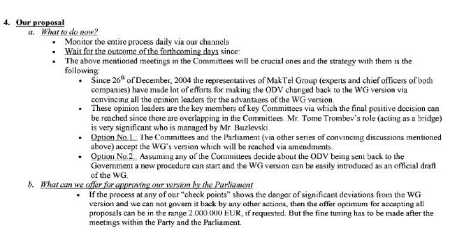 """Сендреи во писмото од 16 јануари предлага можност за """"подмачкување"""" од 2 милиони евра"""