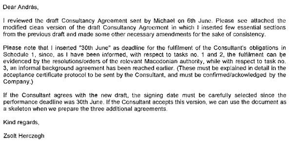 """Херцег му објаснува на Балог детали за договорите меѓу МакТел и Чаптекс и како """"правилно"""" да се избере датумот"""