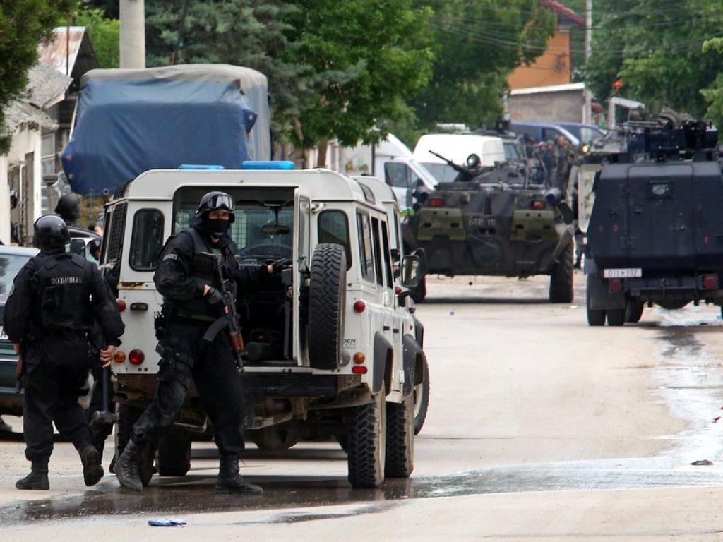 Вооружениот судир во Куманово во мај 2015 година. Фото: АП/Радован Вујовиќ