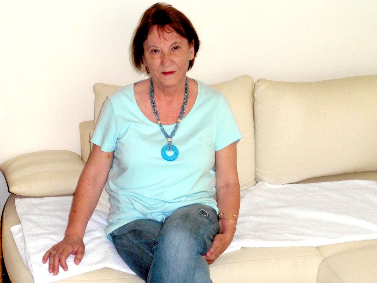 Мира Љубиќ Лоргер во својот стан во Сплит. Фото: Дамир Пилиќ