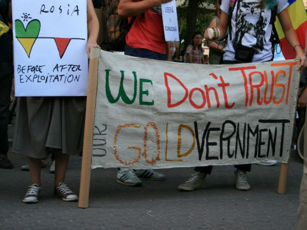 Од протестите на романските активисти за здрава животна средина во Рошја Монтана