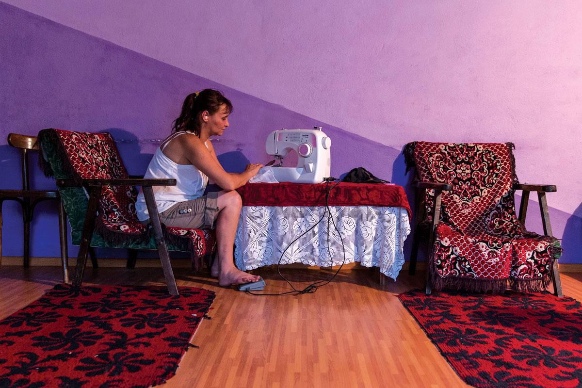 Кармен Чобану во нејзиниот дом во селото Султана Фото: Џорџ Попеску