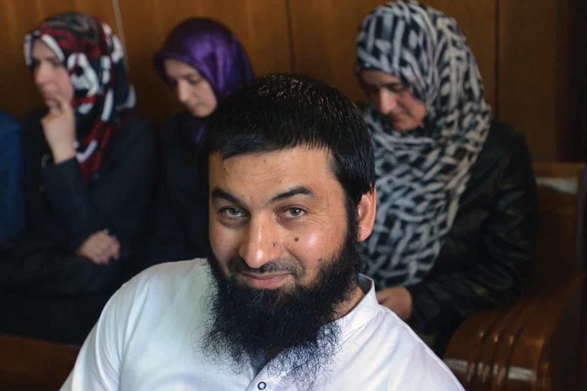 Ахмед Муса, во судот во Пазарџик на 19 март 2014 година, кога бил обвинет за ширење антидемократска идеологија и верска омраза. Фото: Георги Кожухаров