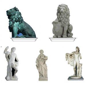 Споменици на плоштадот во Рајската градина