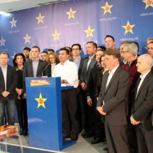 Премиерот Никола Груевски лично се пазарел со лидерот на ДУИ Али Ахмети за амнестијата на четирите хашки случаи, рече Заев   Фото: СДСМ