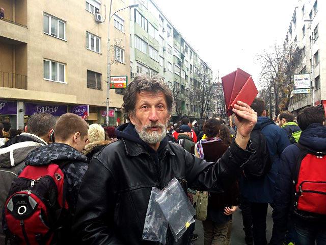 Професорите маршираа заедно со студентите | Фото: М.Јордановска