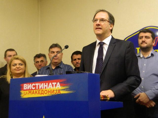 Градоначалникот на општина Центар на денешната прес-конференција / Фото: М. Јордановска