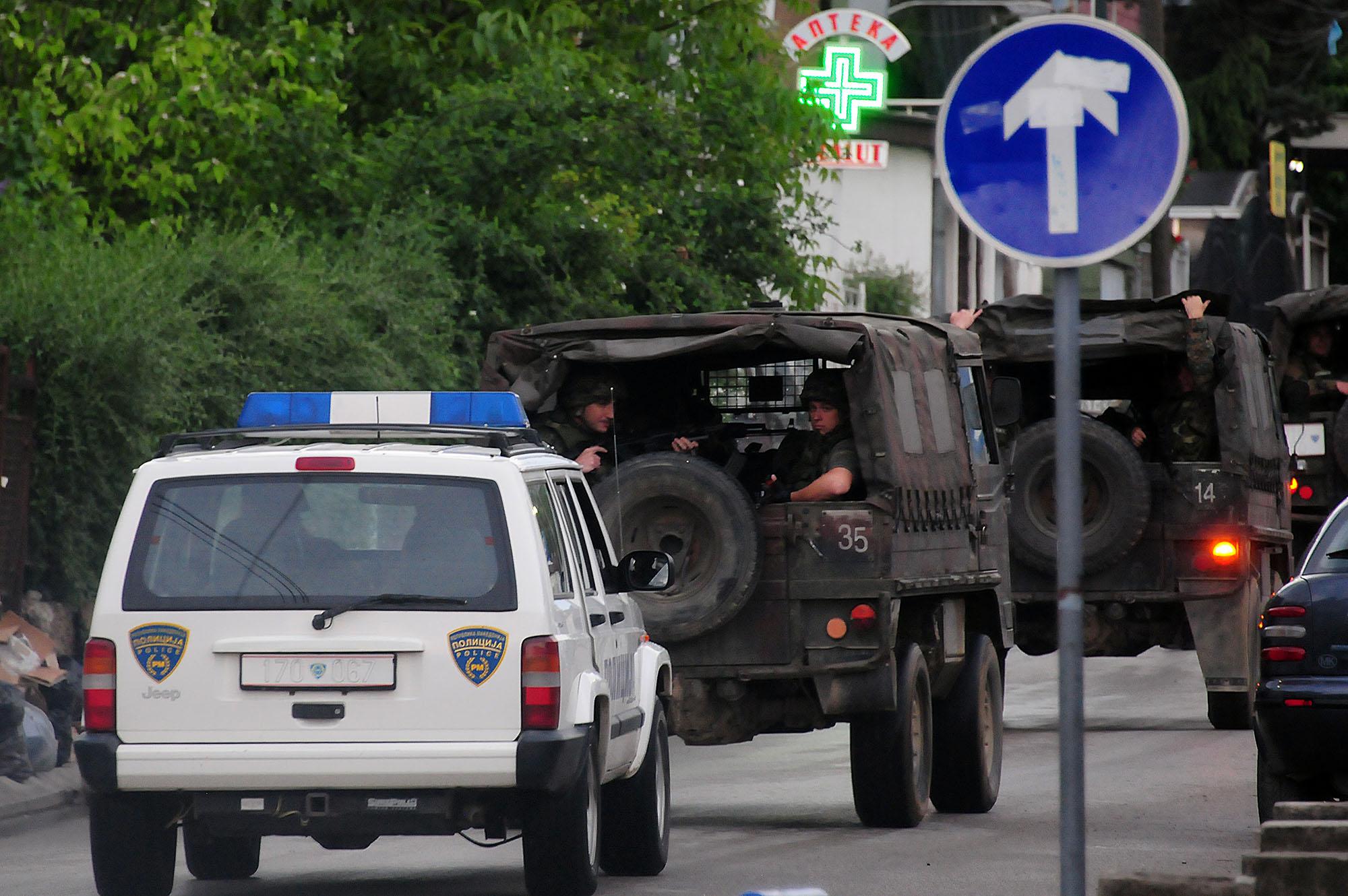 Полицијата во Куманово во мај минатата година / Фото: МИА
