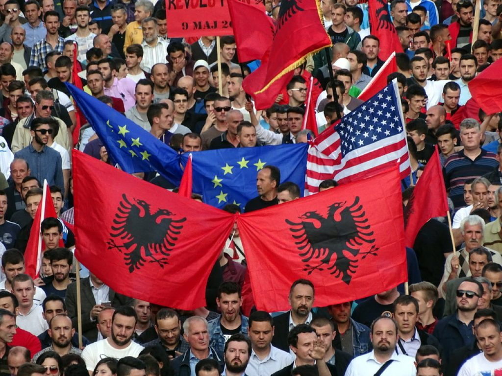 protest albanci opozicija