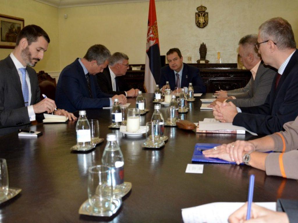 Дејвид Швендиман на состанок со Ивица Дачиќ / Фото:mfa.gov.rs
