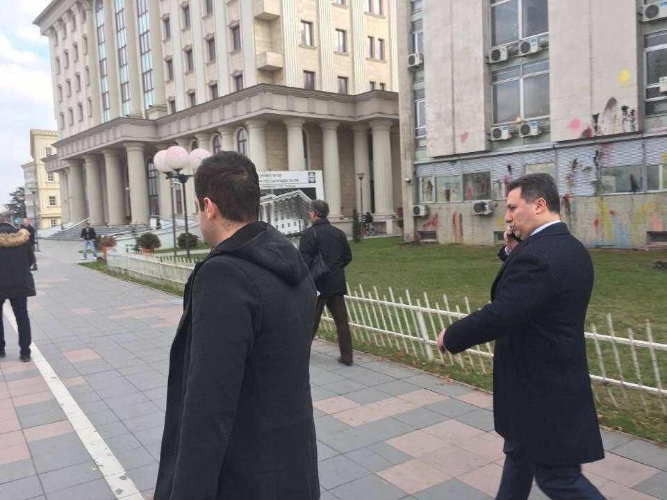 Груевски го напушта судењето за насилство во општина Центар