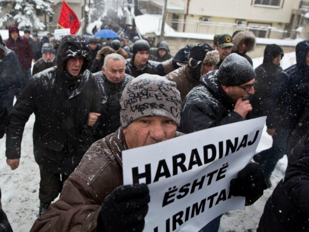 Од протестите во Приштина одржани во петокот. Фото: Бета