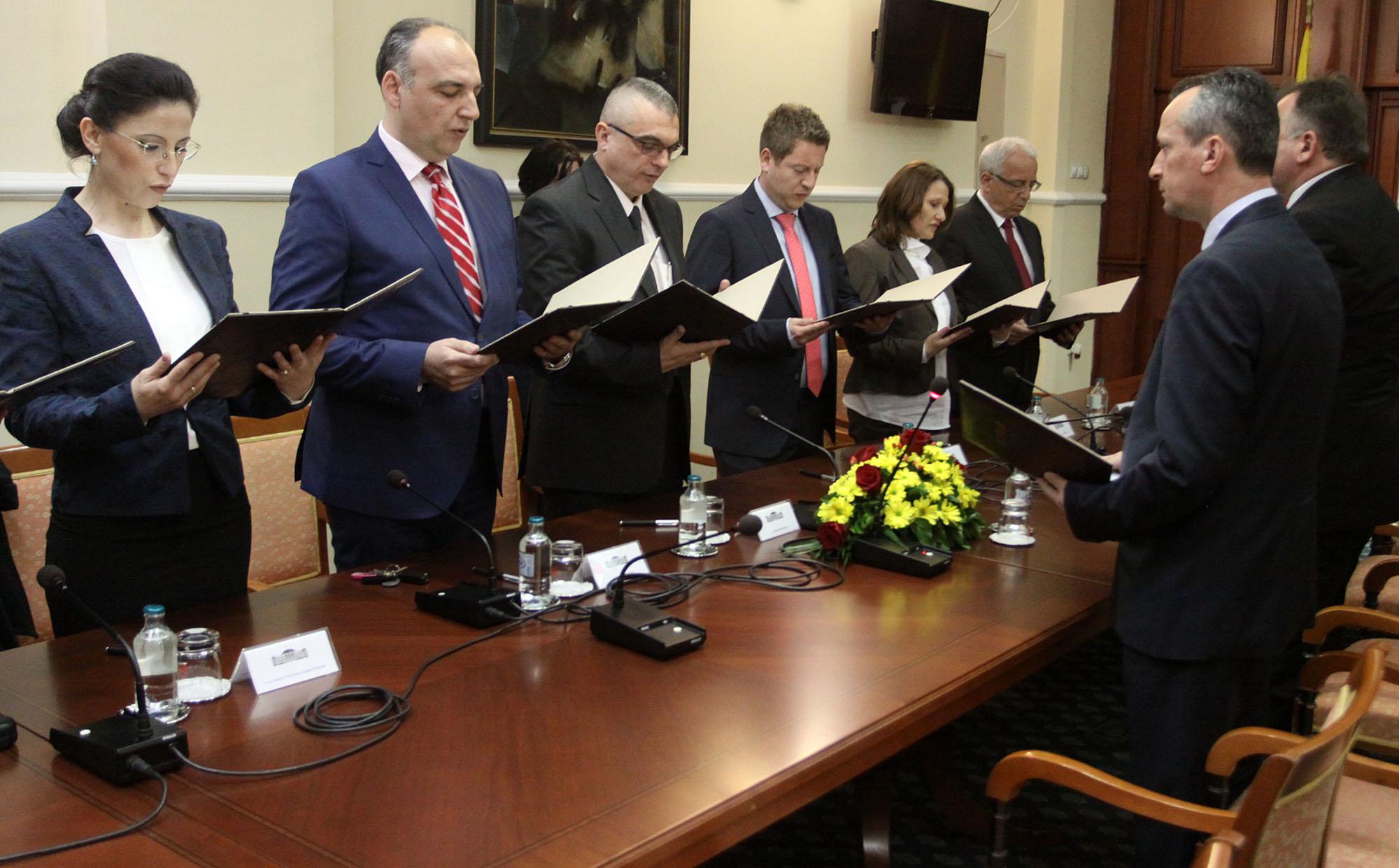 Tanturovski dhe Milenkov nga KShPK (i dyti dhe i treti nga e majta) ishin nxitës të proceseve, foto: MIA, 2015