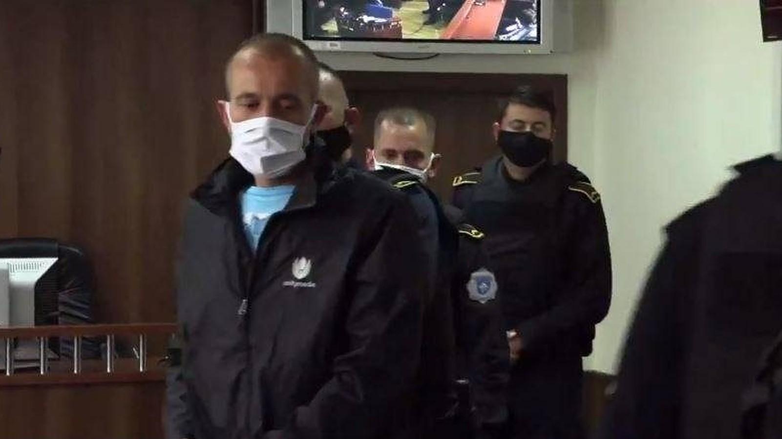 Дарко Тасиќ, во Основниот суд во Призрен, во јуни, откако беше осуден за учество во масакрот во Мала Круша. Фото: БИРН